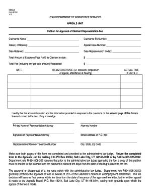 2013 Form UT DWS-UI 617B Fill Online, Printable, Fillable ...