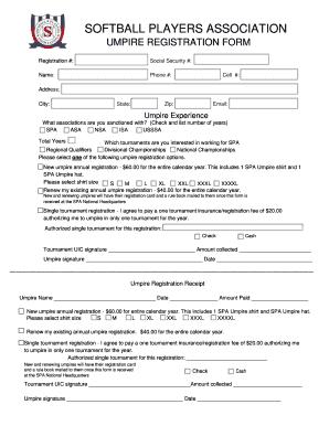 Isa softball umpire registration fill online printable fillable isa softball umpire registration malvernweather Choice Image