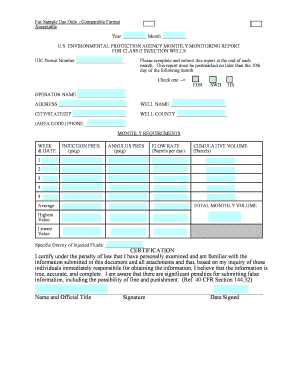 sample monthly monitoring form