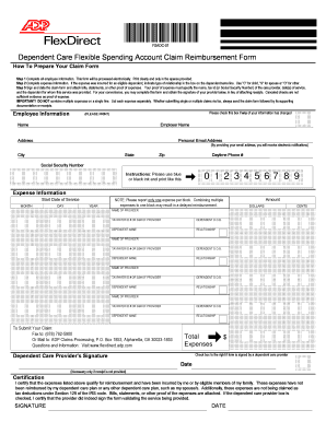 Adp Dependent Care Form - Fill Online, Printable, Fillable, Blank ...