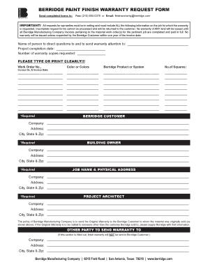 Berridge Paint Warranty - Fill Online, Printable, Fillable, Blank ...