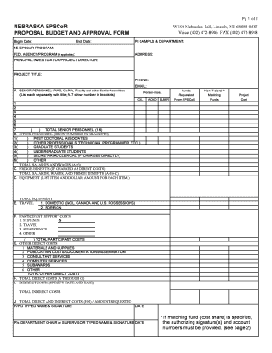 budget forms online