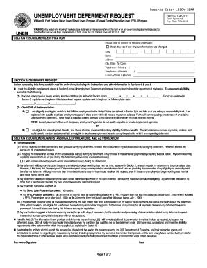 Fedloan Servicing Unemployment Deferment Form - Fill Online ...