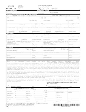 printable credit application