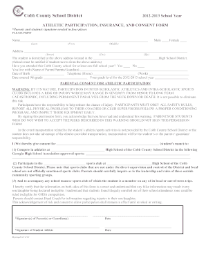sports physical form cobb county  Cobb County Physical Form - Fill Online, Printable, Fillable ...
