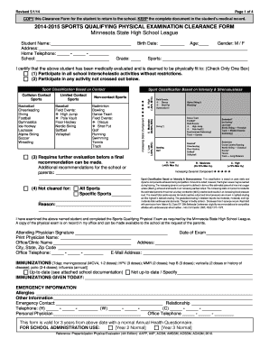 sports physical form pa  Sports Clearance Form - Fill Online, Printable, Fillable ...