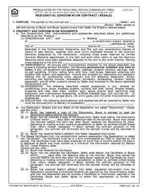 Condominium Contract Texas Fill Online Printable Fillable Blank