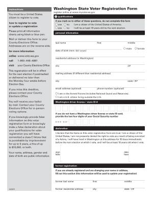 washington state voter registration fillable form fill online printable fillable blank. Black Bedroom Furniture Sets. Home Design Ideas