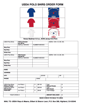 printable polo shirts form