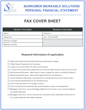 workable solutions financial form