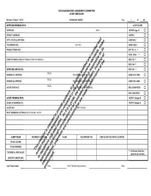 api q1 audit checklist pdf