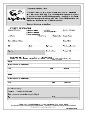 Wyotech transcript fill online printable fillable blank pdffiller wyotech transcript altavistaventures Gallery