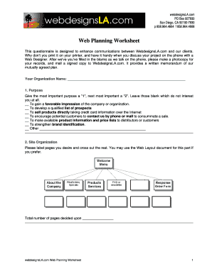 typeable web planning sheet form