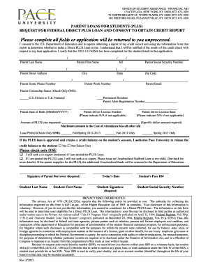 direct parent plus loan pdf application pace form