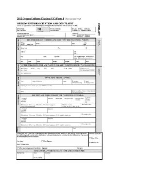 Uniform Citation Form - Fill Online, Printable, Fillable, Blank ...