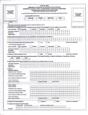 Form 49A Download New Form 49A for PAN Card Application