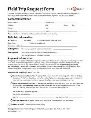 Field Trip Forms Printable - Fill Online, Printable, Fillable ...