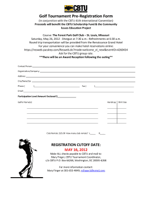 Golf Tournament Registration Form Pdf Fill Online Printable Fillable Blank Pdffiller