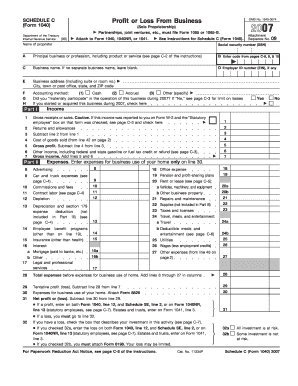 Fillable Online irs 2007 Form 1040 (Schedule C) - irs Fax Email ...