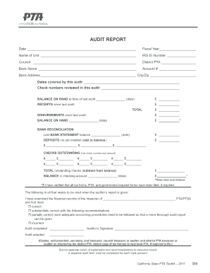 Internal Audit Manual Sample Forms