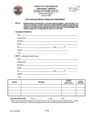 Order Form - Los Angeles County Assessor - assessor lacounty