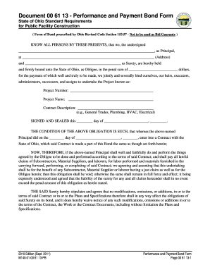 Performance contract template fillable printable for Performance bond template
