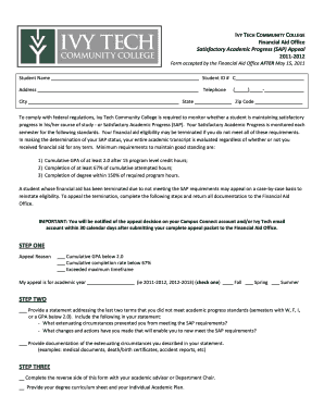 Ivytech Sap Appeal - Fill Online, Printable, Fillable, Blank ...