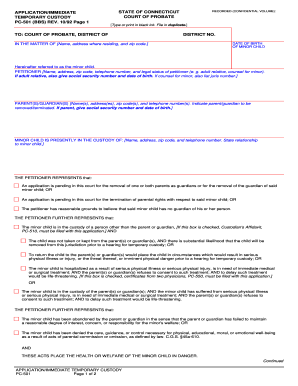 Pdf Fill And Sign Online Temporary Guardianship Without Court ...