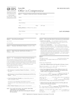 Offer in compromise form 433 a fillable