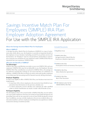 Morgan Stanley Simple Ira Adoption Agreement - Fill Online ...