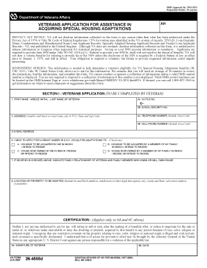 Va Form 26 4555d - Fill Online, Printable, Fillable, Blank | PDFfiller