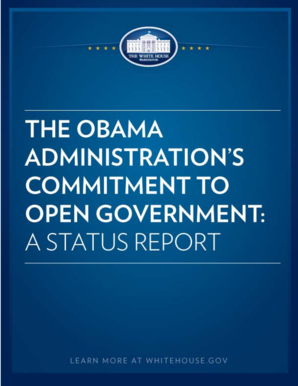 THE OBAMA ADMINISTRATION'S COMMITMENT TO OPEN ... - whitehouse