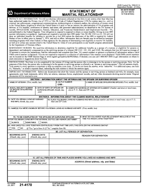 Va Form 21 4171 - Fill Online, Printable, Fillable, Blank | PDFfiller