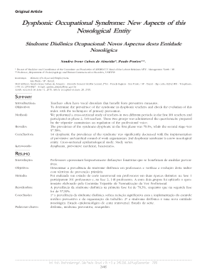Dysphonic Occupational Syndrome: New Aspects of this ... - internationalarchivesent