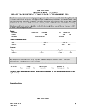 California Workers Compensation Pr3 Editable Form - Fill Online ...