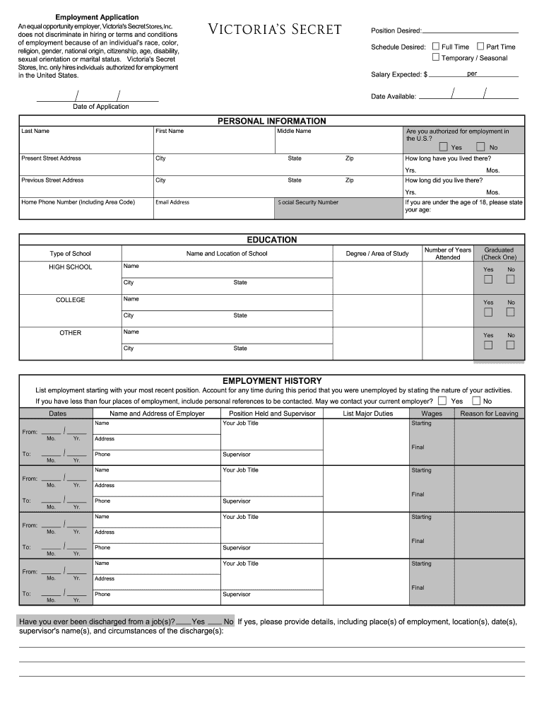 graphic about Victoria Secret Printable Applications referred to as Victoria Top secret Program - Fill On line, Printable
