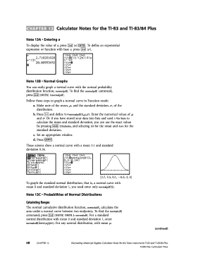 CHAPTER 13 Calculator Notes for the TI-83 and TI-83/84 Plus