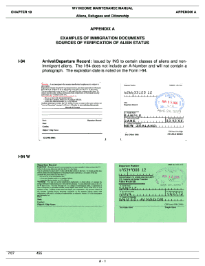 i 94 form pdf print  7 Printable i-7 expiration date Forms and Templates ...