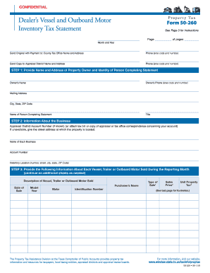 Property Tax Form 50 260 - Fill Online, Printable, Fillable, Blank ...