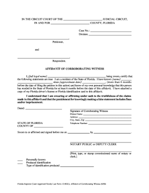 Sworn affidavit for marriage forms and templates fillable florida witness affidavit form solutioingenieria Choice Image