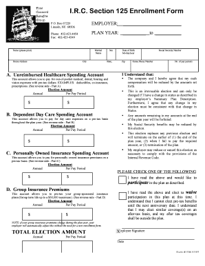 First Concord Section 125 - Fill Online, Printable, Fillable ...