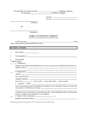 Florida Family Law Rules Of Procedure Form 12902c Family Law ...