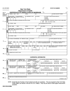Dissolution Of Marriage Certificate - Fill Online, Printable ...