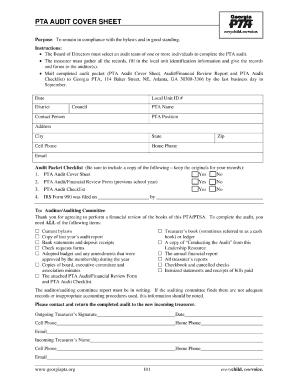 Pta Audit Form Fillable - Fill Online, Printable, Fillable, Blank ...