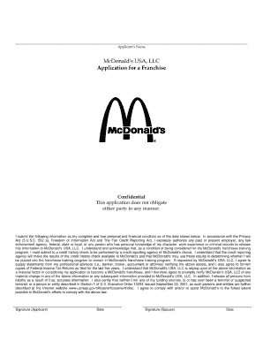 online mcdonalds applicationform