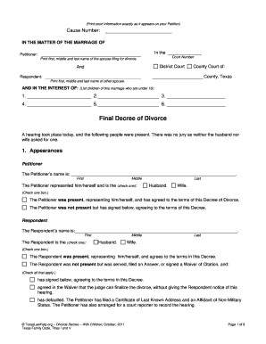 fake divorce forms