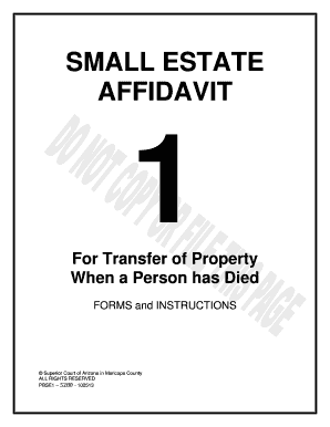 Tactueux image for free printable small estate affidavit form
