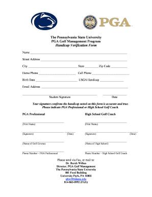 Penn State Pgm Handicap Verification Form - Fill Online, Printable ...