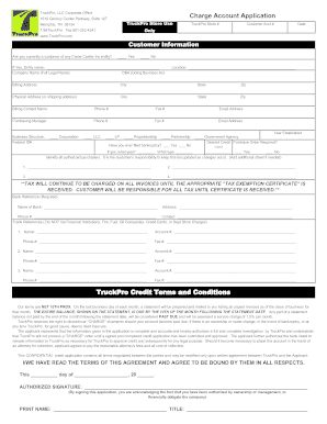 truck pro credit application form