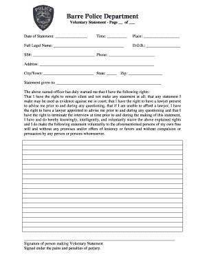 Police Statement Form - Fill Online, Printable, Fillable, Blank ...